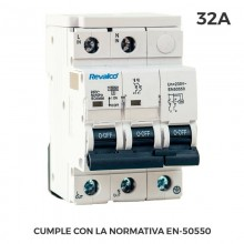 IGA 2P 32A C 10KA PROT.SOBRETENSION PERMANENTE SEGUN NORMATIVA EN-50550 Y TRANSITORIO 5-15KA 275V