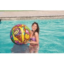 PELOTA HINCHABLE 91CM POP ART