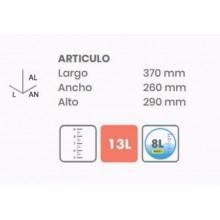 CUBO AGUA 16 LT CON ESCURRIDOR TATAY RO RECT 10289