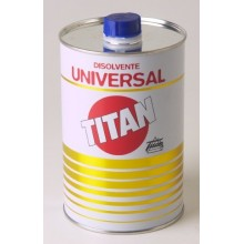 DISOLVENTE UNIVIVERSAL PARA PINTURAS TITAN 500 ML