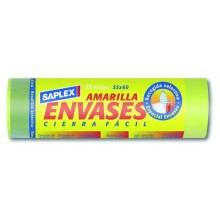 BOLSA BASURA 55X60 CM ENVASES SAPLEX 15 PZ