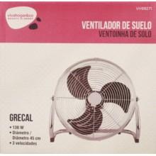 VENTILADOR SUELO 45CM 130W-3V GRECAL VIVAH