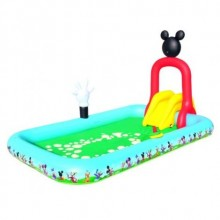 PISCINA HINCHABLE CON TOBOGAN 320X175X15 MICKEY