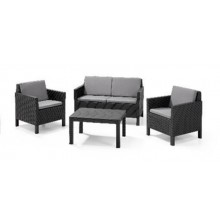 MUEBLE JARDIN CURVER RATAN GRAFIT CHICAGO LOUNGE 1SOF 2SILL 22