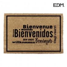 FELPUDO 60X40CM MODELO BIENVENIDOS IDIOMAS  EDM