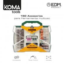 SET DE 150 ACCESORIOS KOMA TOOLS PARA 08709 EDM