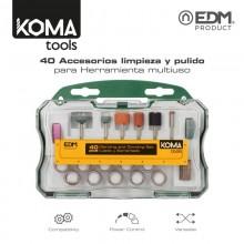 SET 40 ACCESORIOS KOMA TOOLS PARA 08709 EDM