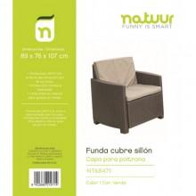 FUNDA PROTECTORA 89X76X107CM SILLON NATUUR PVC VER NT68471