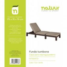 FUNDA PROTECTORA 175X76X79CM TUMBONA NATUUR PVC VER NT68472
