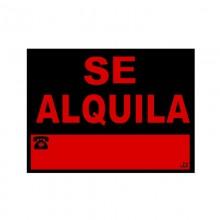 """CARTEL PVC 40X30CM """"SE ALQUILA"""""""