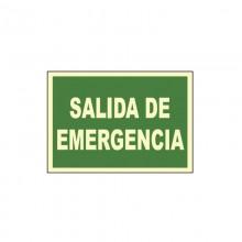 CARTEL SEÑAL SALIDA DE EMERGENCIA 30X21CM