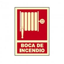 CARTEL SEÑAL BOCA DE INCENDIO FOTOLUMINISCENTE HOMOLOGADO