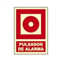 CARTEL SEÑAL PULSADOR DE ALARMA FOTOLUMINISCENTE HOMOLOGADO