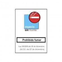CARTEL ESPACIO SIN HUMO 21X29,5CM HOMOLOGADO