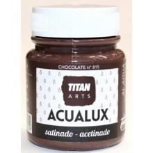 PINTURA MANUALIDADES ACRILICA. 100 ML CHOCOL. SATIN. ACUALUX TITAN