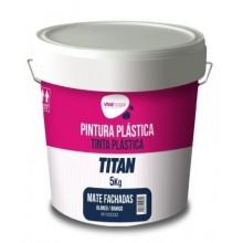 PINTURA PLASTICA MATE EXT. FACH. BL VIVAHOGAR VH 5 KG