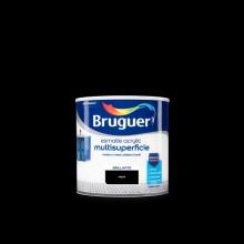 ESMALTE ACRYLIC MULTISUPERFICIE BRILLANTE NEGRO 0,250L BRUGUER