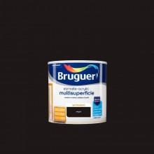 ESMALTE ACRYLIC MULTISUPERFICIE SATINADO NEGRO 0,250L BRUGUER