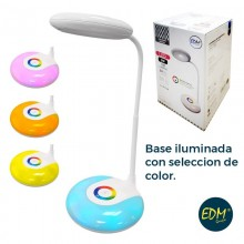FLEXO RECARGABLE LED 3W 180 LUMENS SMD Y FUNCION RGB 6.400K BATERIA INCLUIDA 1000MAH