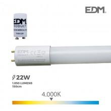 TUBO LED T8 22W 1850 LM 4000K LUZ DIA EDM