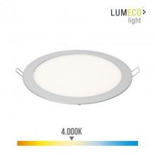 DOWNLIGHT LED EMPOTRABLE 20W LUZ DIA 4.000K 1500 LUMENS CROMO MATE LUMECO