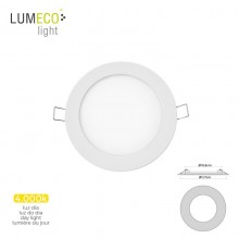 MINI DOWNLIGHT LED LUMECO 6W 320 LUMEN REDONDO 12CM 4.000K MARCO BLANCO