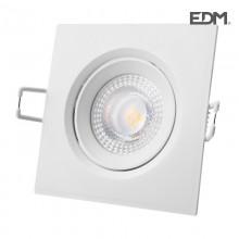 DOWNLIGHT LED EMPOTRAR 5W 380 LUMEN 4.000K CUADRADO MARCO BLANCO EDM