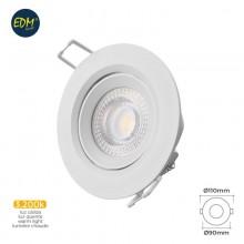 DOWNLIGHT LED EMPOTRAR 5W 3.200K REDONDO MARCO BLANCO EDM