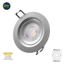 DOWNLIGHT LED EMPOTRABLE 5W 380 LUMEN 3.200K REDONDO MARCO CROMO EDM