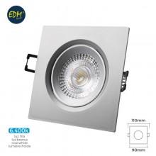 DOWNLIGHT LED EMPOTRABLE 5W 380 LUMEN 6.400K CUADRADO MARCO CROMO EDM