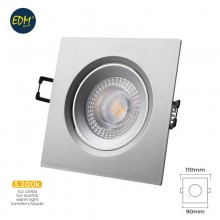 DOWNLIGHT LED EMPOTRABLE 5W 380 LUMEN 3.200K CUADRADO MARCO CROMO EDM