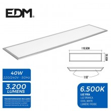 PANEL LED 120X30CM 40W 6.500K LUZ FRIA 3200 LUMENES