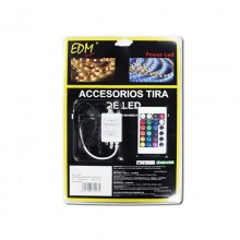 CONTROLADOR RGB CON MANDO A DISTANCIA PARA TIRA DE LED EDM
