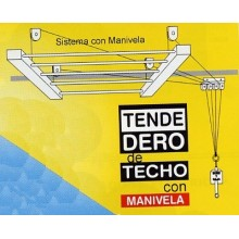 TENDEDERO TECHO MANIVELA 200CM AC BLANCO SUBE-BAJA EFEGETE