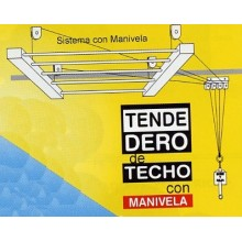 TENDEDERO TECHO MANIVELA 160CM AC BL SUBE-BAJA EFEGETE
