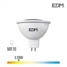 BOMBILLA DICROICA LED GU5.3 12V 5W 450 LM 3200K LUZ CALIDA EDM