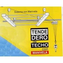 TENDEDERO TECHO MANIVELA 140CM AC BL SUBE-BAJA EFEGETE
