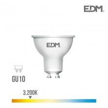 BOMBILLA DICROICA LED GU10 8W 600 LM 3200K LUZ CALIDA EDM