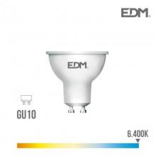 BOMBILLA DICROICA LED GU10 8W 600 LM 6400K LUZ FRIA EDM