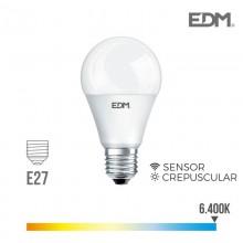 BOMBILLA CREPUSCULAR STANDARD LED E27 10W 800 LM 6400K LUZ FRIA EDM