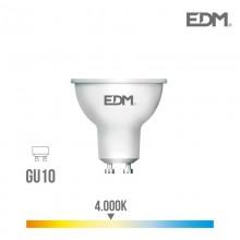 BOMBILLA DICROICA LED GU10 8W 600 LM 4000K LUZ DIA EDM