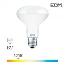 BOMBILLA REFLECTORA LED R80 E27 10W 810 LM 3200K LUZ CALIDA EDM