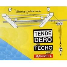 TENDEDERO TECHO 120CM AC BL SUBE-BAJA EFEGETE