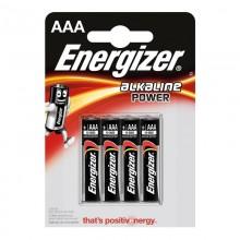 PILA ENERGIZER ALKALINE POWER LR03 AAA (BLISTER 4 PILAS)