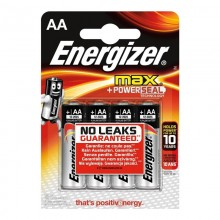 PILA ENERGIZER MAX POWERSEAL TECHNOLOGY LR6 AA (BLISTER 4 PILAS)