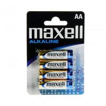 PILA ALKALINA MAXELL LR-06 AA 1,5V (BLISTER 4 PILAS)