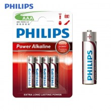 PILA PHILIPS ALKALINA LR03 AAA (BLISTER 4 PILAS)