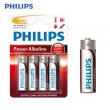PILA PHILIPS ALKALINA LR06 AA (BLISTER 4 PILAS)