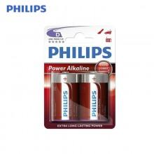 PILA PHILIPS ALKALINA LR20 D (BLISTER 2 PILAS)