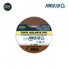 CINTA AISLANTE 10M X19MM MARRON EDM